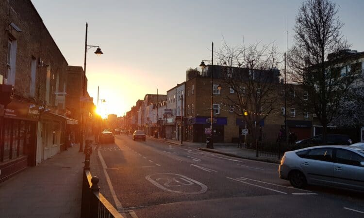 Roman Road sunset